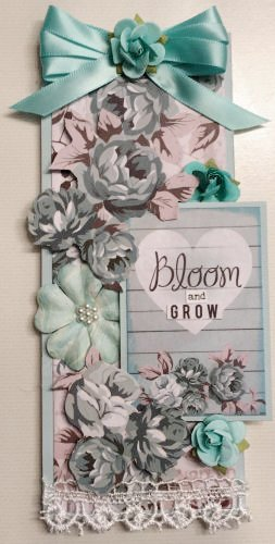 Bloom and Grow wooden tag